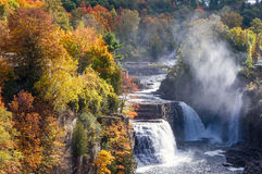 Ausable Chasm Waterfalls Stock Image