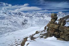Ausangate, Andes. Beautiful view of south american Andes in high altitudes, Peru, Ausangate stock photo