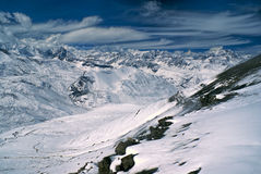 Ausangate, Andes. Breathtaking view of high altitude south american Andes in Peru, Ausangate stock image