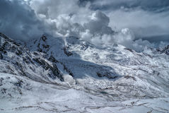 Ausangate, Andes. Dramatic clouds over snowy south american Andes in Peru, Ausangate stock image