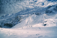 Ausangate, Andes. Dramatic peaks of south american Andes in Peru, Ausangate royalty free stock images