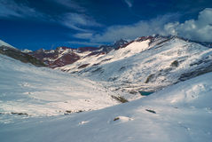 Ausangate, Andes. Picturesque south american Andes in Peru, Ausangate royalty free stock photo
