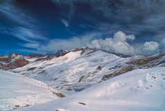 Ausangate, Andes. Picturesque view of high altitude south american Andes in Peru, Ausangate stock photo