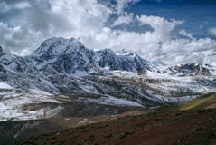 Ausangate, Andes. Picturesque view of high altitude south american Andes in Peru, Ausangate stock photography