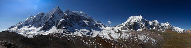 Ausangate du Pérou de vue de panorama photos stock