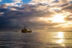 Ausbaggern des Meeresgrundes Lizenzfreies Stockbild