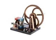 Ausbildender elektrischer Generator für Physiklektionen lokalisiert auf weißem Hintergrund Lizenzfreie Stockbilder