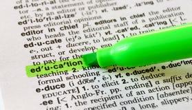 Ausbildung definiert Lizenzfreies Stockbild