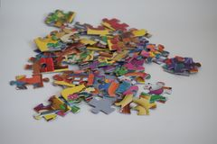 Ausbildung für den Verstand - Puzzlespiele Stockbild