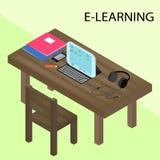 Ausbildung Infographic Isometrische Vektorillustration für E-Learning vektor abbildung