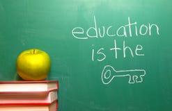 Ausbildung ist die Taste Lizenzfreie Stockbilder