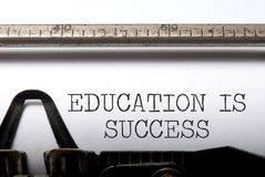 Ausbildung ist Erfolg stockfotos
