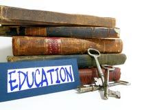 Ausbildung ist Taste lizenzfreie stockfotografie