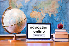 Ausbildung online stockfoto