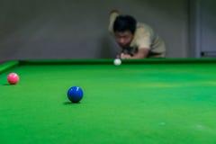 Ausbildung, zum ein Meistersnooker zu werden Lizenzfreies Stockbild