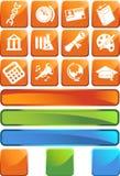 Ausbildungs-quadratisches Tasten-Set Lizenzfreie Stockfotos