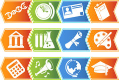 Ausbildungs-Taste eingestellt - Chevron Stockfotos