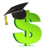 Ausbildungs- und Dollarzeichen Stockfotos