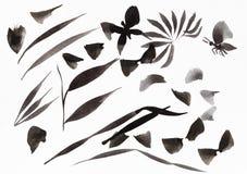 Ausbildungsanschläge formten Blätter und Schmetterlinge lizenzfreie stockbilder
