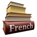 Ausbildungsbücher - Franzosen Stockfotos
