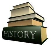 Ausbildungsbücher - Geschichte Lizenzfreies Stockfoto