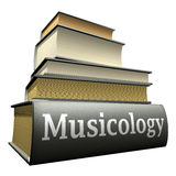 Ausbildungsbücher - Musicology Stockfotografie