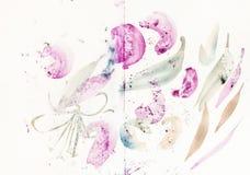 Ausbildungsbürstenanschläge formten Blätter und Blumen lizenzfreie stockfotografie