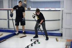 Ausbildungskomplex für Hockeyspieler, Stockfotografie