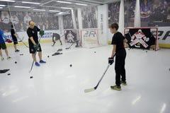 Ausbildungskomplex für Hockeyspieler, Stockbild