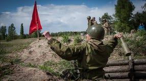 Ausbildungsstätte von bewaffneten Kräften von Ukraine Stockfotografie