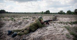 Ausbildungsstätte von bewaffneten Kräften von Ukraine Stockfoto