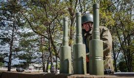 Ausbildungsstätte von bewaffneten Kräften von Ukraine Stockbilder