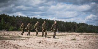 Ausbildungsstätte von bewaffneten Kräften von Ukraine Stockfotos
