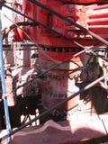 Ausblasen-Verhinderer auf Erdölbohrungs-Anlage stockbild