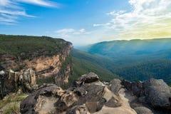 Ausblick über Jamison Valley Blaue Berge Lizenzfreie Stockfotos