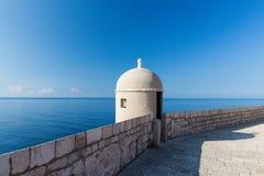 Ausblick auf der ummauerten Stadt von Dubrovnik Lizenzfreies Stockbild