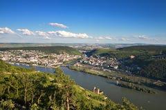 Ausblick Rossel - Veranschaulichung des Rhein-Tales lizenzfreies stockbild