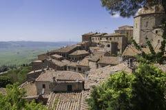 Ausblick in Volterra stockfotos