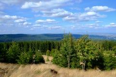 Ausblick von der Spitze des Altkoenig-Berges Lizenzfreies Stockfoto