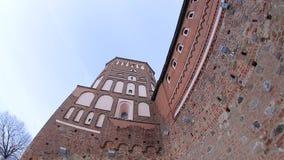 Ausblickturm des Schlosses stock footage