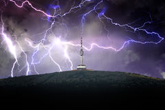 Ausblickturm im Sturm Stockbilder
