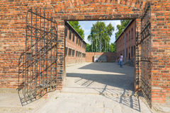 Auschitz Birkenau, fascist extermination camp ,Poland Royalty Free Stock Photos