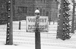 auschwitz阵营死亡 图库摄影