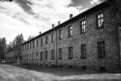 AUSCHWITZ, ΠΟΛΩΝΙΑ - 11 Ιουλίου 2017 Αποδοκιμασίες και οδοντωτός - καλώδιο στο α Στοκ Εικόνες