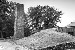 AUSCHWITZ, ΠΟΛΩΝΙΑ - 11 Ιουλίου 2017 Μέρος του concentrati Auschwitz Στοκ Εικόνες