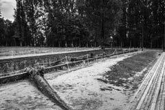 AUSCHWITZ, ΠΟΛΩΝΙΑ - 11 Ιουλίου 2017 Μέρος του concentrati Auschwitz Στοκ Φωτογραφία
