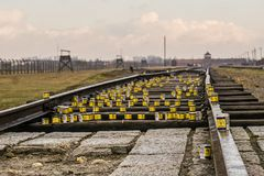 2 auschwitz στρατόπεδων πολεμικός κόσμος καθεστώτος της Πολωνίας συγκέντρωσης ναζιστικός Στοκ εικόνες με δικαίωμα ελεύθερης χρήσης