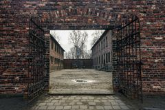 2 auschwitz στρατόπεδων πολεμικός κόσμος καθεστώτος της Πολωνίας συγκέντρωσης ναζιστικός Στοκ Εικόνες