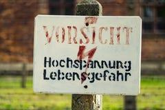 auschwitz συγκέντρωση Πολωνία στ&r στοκ εικόνες