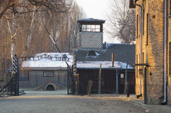 auschwitz συγκέντρωση oswiecim Πολωνία στρατόπεδων Στοκ Φωτογραφίες